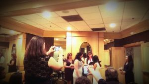 This wedding was in a small room full of joy at the Beacon Hotel